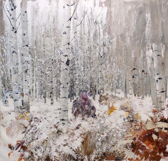 """Adrian Ghenie, """"Persian Miniature"""" (2013); 119"""" x 115"""""""