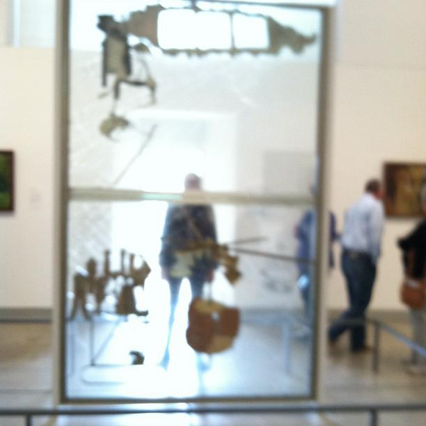 """Marcel Duchamp """"The Bride Stripped Bare by Her Bachelors, Even (The Large Glass)"""" (1915-23)"""