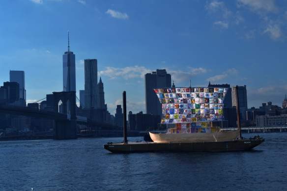 "Ilya and Emilia Kabakov ""Ship of Tolerance"" docked at Brooklyn Bridge Park #art #daf13"