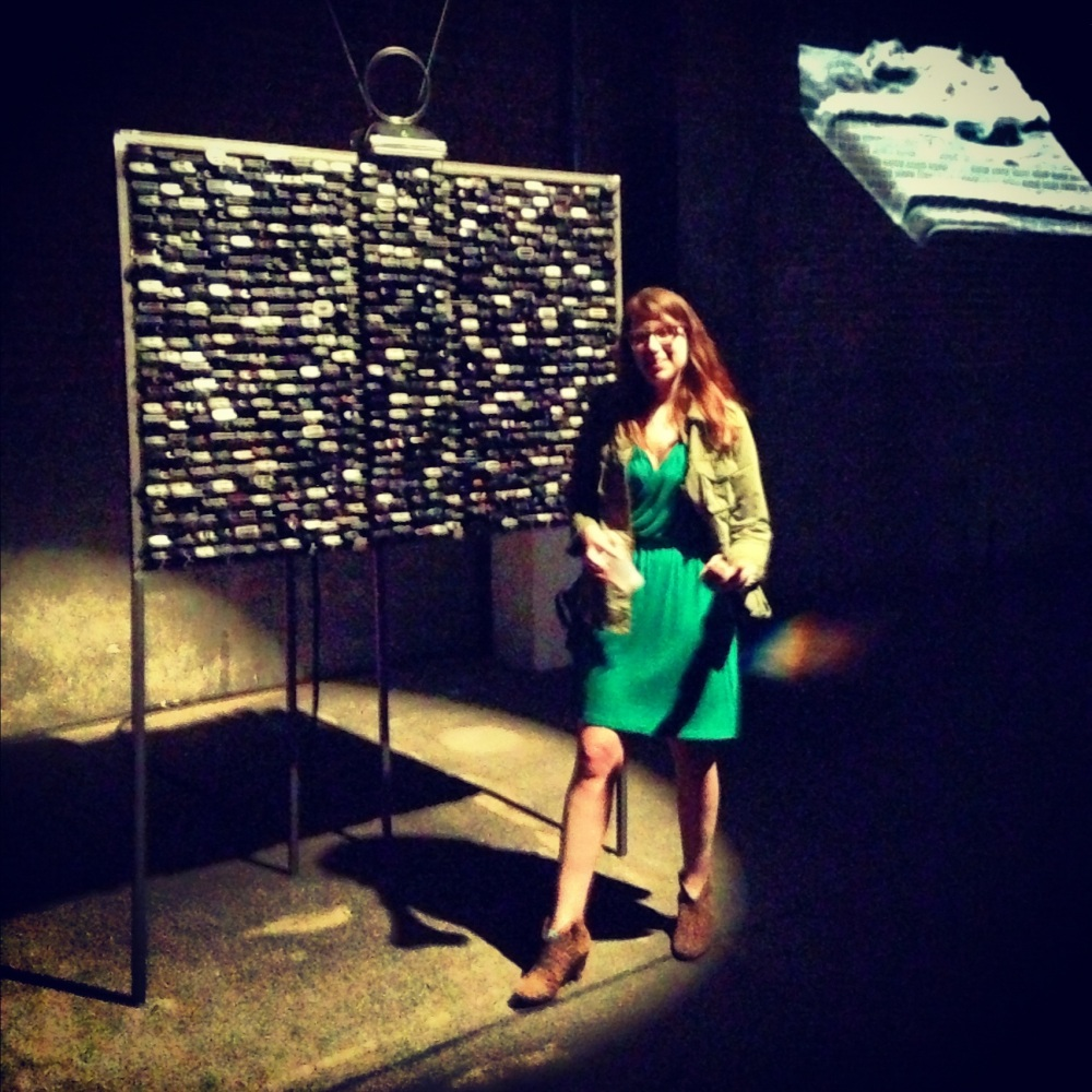 "Myself rocking out at a summer opening at Eyebeam, whose ""PRISM Break Up"" series makes my must see list."