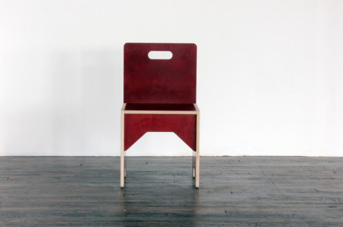 """Phenolic Birch Chair,"" 2013 (all photos courtesy of the artist)"